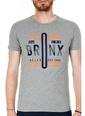 Buratti Buratti Slim Fit Erkek T-Shirt ABY38119LNS Gri